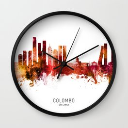 Colombo Sri Lanka Skyline Wall Clock