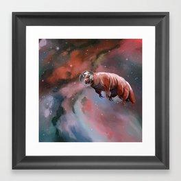 Water bear (tardigrade) in space Framed Art Print