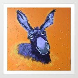 Donkey! Art Print