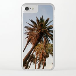 Santa Monica Sky Palms Clear iPhone Case