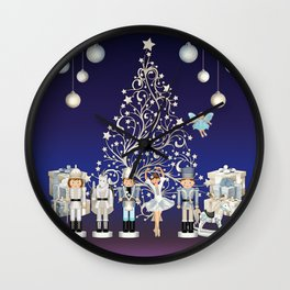 Christmas time - Nutckracker Story on Christmas eve Wall Clock