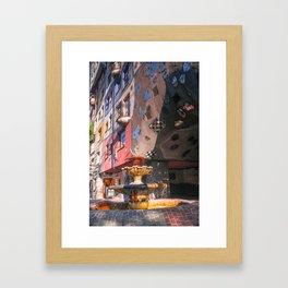Hundertwasserhaus 3 Vienne Autriche Framed Art Print