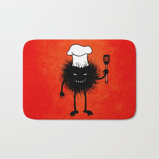 Evil Bug Chef Loves To Cook Bath Mat