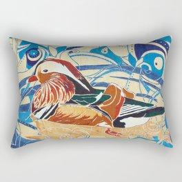 Mandarin Duck Rectangular Pillow