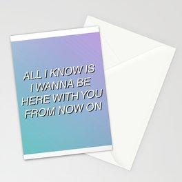 Aquman by Walk The Moon (Lyrics) Stationery Cards