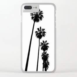 Palm Trees Print Clear iPhone Case