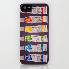 watercolor tubes iPhone Case