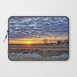 Iowa Farm Sunset Laptop Sleeve