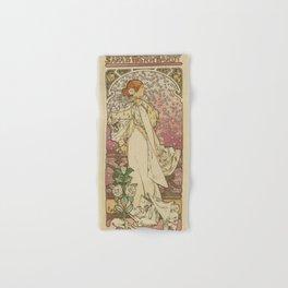 Camille by Alphonse Mucha Hand & Bath Towel
