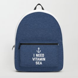 Vitamin Sea Quote Backpack