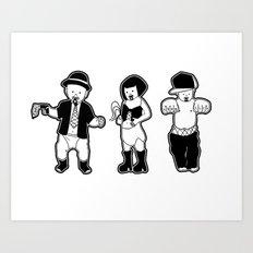 Gangster babies. Art Print