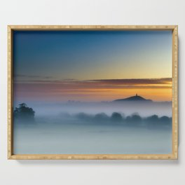 Glastonbury Mist Serving Tray