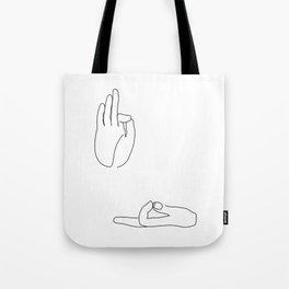Buddha Hands Tote Bag