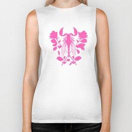Pink locust of locust Tattoo w roses Biker Tank