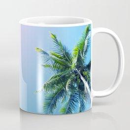 Coco Palm Trees on Pink Blue Sky Coffee Mug