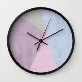 Cold Tones Geometry Wall Clock