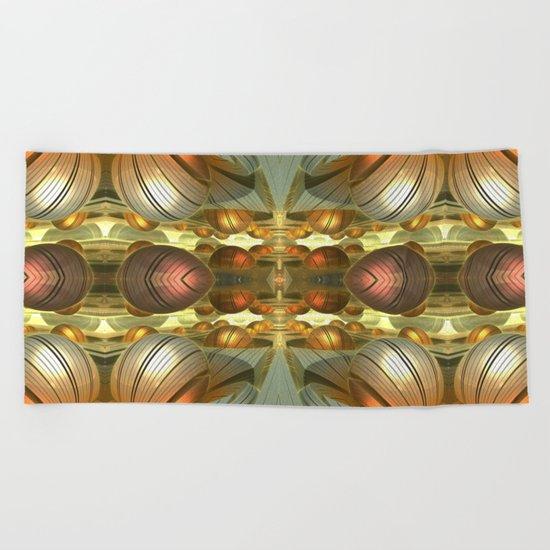 Golden Globes / /  #fractal #fractals #3d Beach Towel
