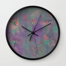 My Purple Spring Wall Clock