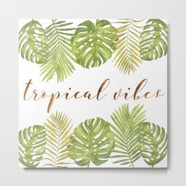 Tropical Vibes - Palms Metal Print