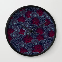 Stop and Smell the Roses CRIMSON MOONLIGHT Wall Clock