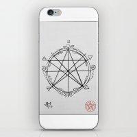 pentagram iPhone & iPod Skins featuring Elemental Pentagram by sparkplug95