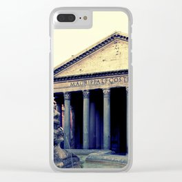 Pantheon in Rome Clear iPhone Case