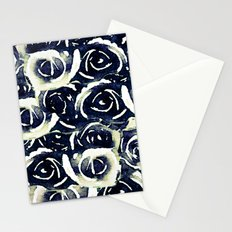 roses in deep blue Stationery Cards