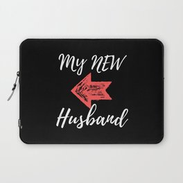 My New Husband - Just Married Laptop Sleeve