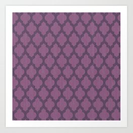 Purple Moroccan Art Print
