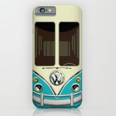 Special Gift for Summer Holiday blue teal minivan minibus iPhone 4 4s 5 5c 6, pillow case and mugs iPhone 6 Slim Case