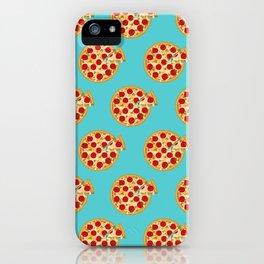 Fun salami pizza pie pattern iPhone Case