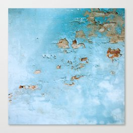 Turquoise Blue Abstract Texture Canvas Print