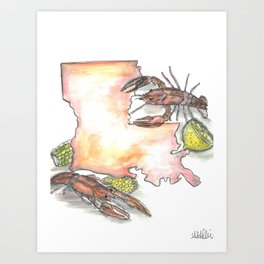 Louisiana Crawfish Boil Art Print