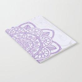 Lavender Mandala on White Marble Notebook
