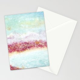 Paradise Watercolor Art Illustration. Stationery Cards