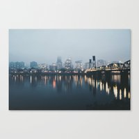 portlandia Canvas Prints featuring Portland II by Hannah Kemp
