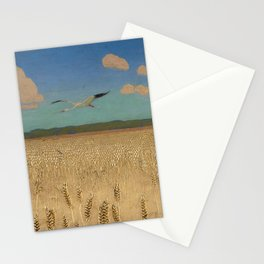 'Fields of Gold' landscape painting by Agnes Slott-Møller Stationery Cards
