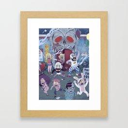 Captain Spaulding's Happy Family Framed Art Print
