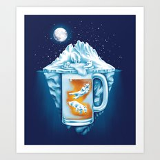 The Polar Beer Club Art Print