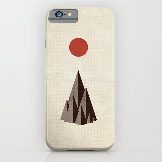 Minimal Mountains iPhone & iPod Case