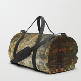 """Abstract golden river pebbles"" Duffle Bag"