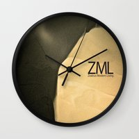 tomb raider Wall Clocks featuring Tomb by ZML Zealous Modern Living