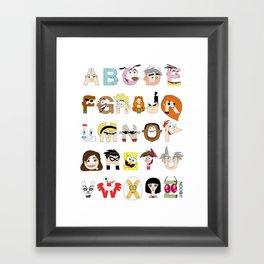 Child of the 00s Alphabet Framed Art Print