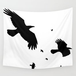 A Murder Of Crows Wall Tapestry
