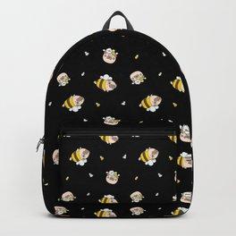 Pug Bee Pattern Backpack