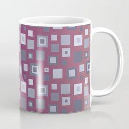 Grey Retro Square Pattern Coffee Mug