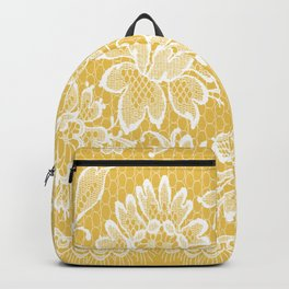 Yellow Lace Backpack