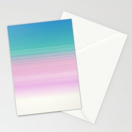 Miami Vice Pastel Ombre Stationery Cards