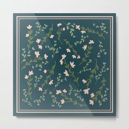 Moody Floral Pattern Metal Print