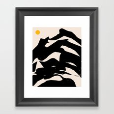 Hearts and Shores Framed Art Print